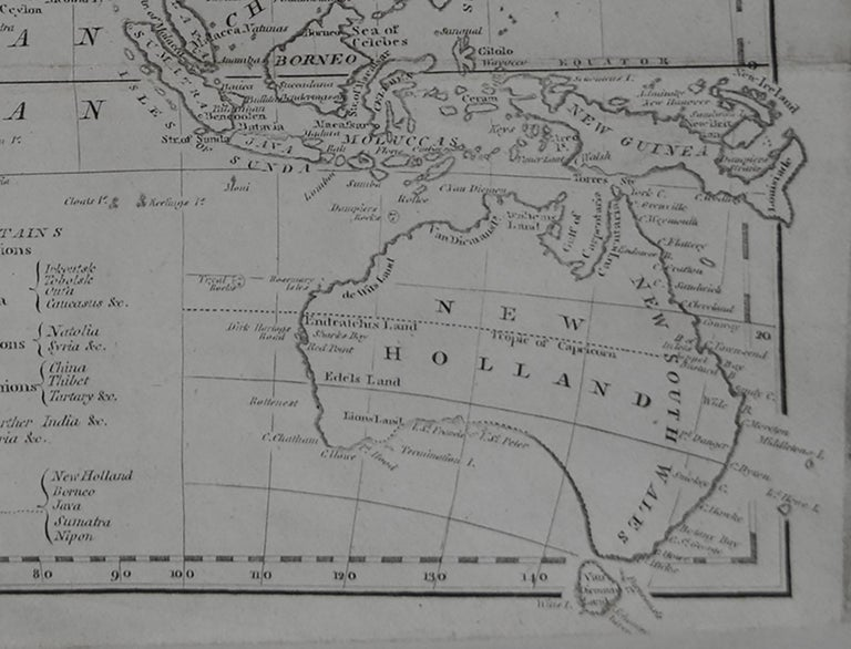 English Original Antique Map of Asia, circa 1800 For Sale