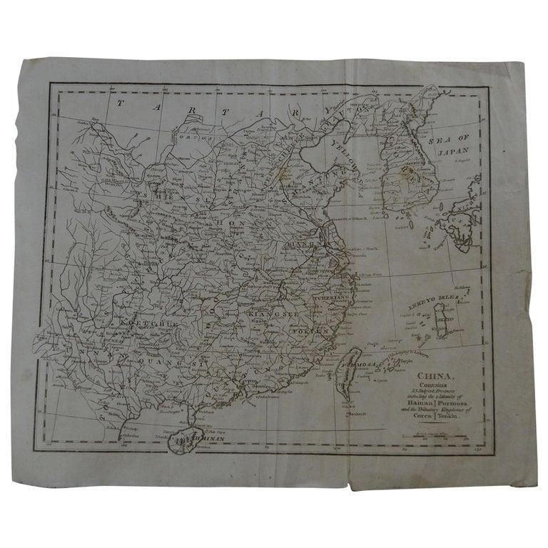 Original Antique Map of China, circa 1800 For Sale