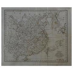 Original Antique Map of China, circa 1800