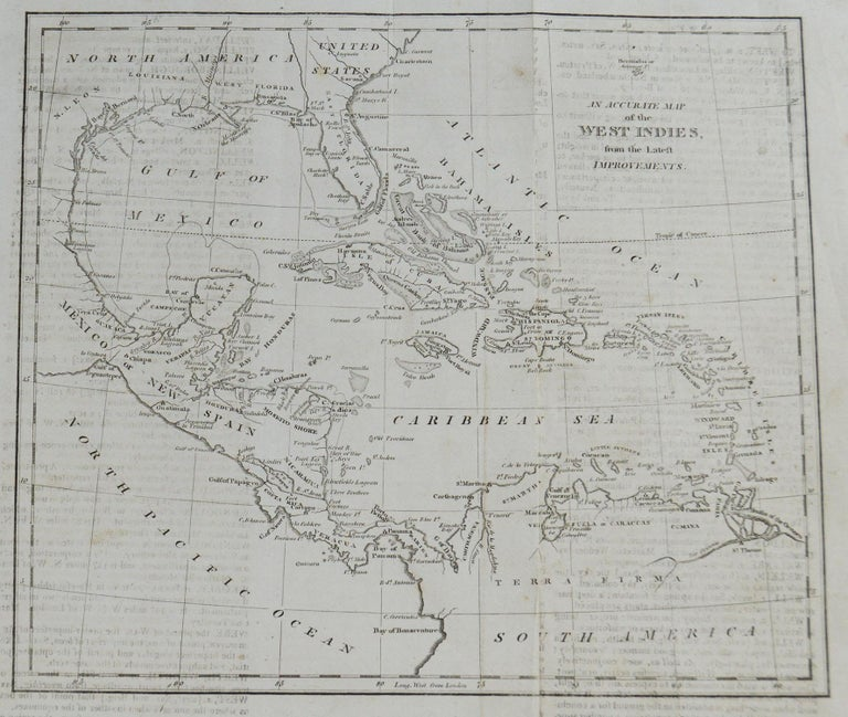 Great map of The Caribbean showing Florida, Bahamas etc.