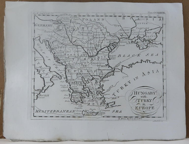 English Original Antique Map of Greece, circa 1790