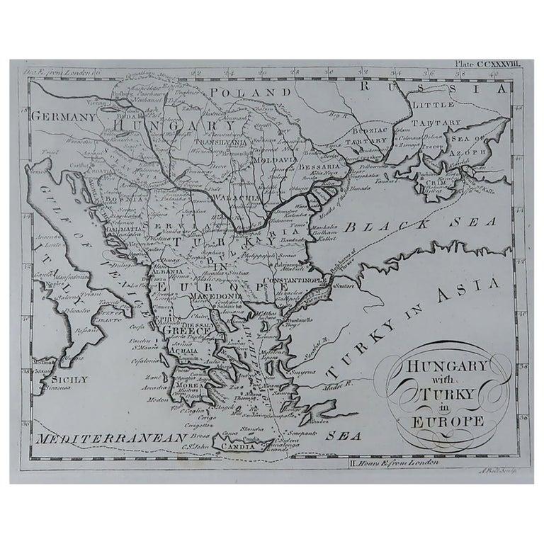 Original Antique Map of Greece, circa 1790
