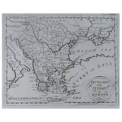 Original Antique Map of Greece, circa 1790