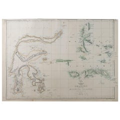 Original Antique Map of Indonesia, 1861