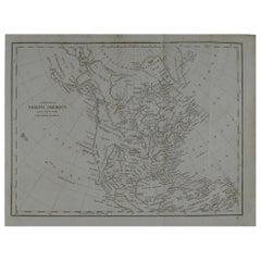 Original Antique Map of North America, circa 1800