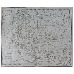 Original Antique Map of Persia, circa 1820