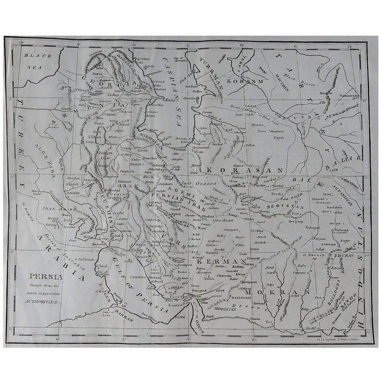 Original Antique Map of Persia, circa 1820