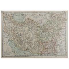 Original Antique Map of Persia 'Iran', circa 1890