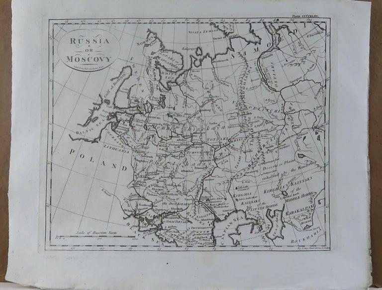 English Original Antique Map of Russia, circa 1790