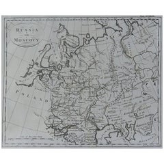 Original Antique Map of Russia, circa 1790