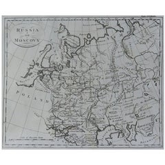 Original Antique Map of Russia, circa 1790