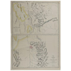 Original Antique Map of Salt Lake City, Utah, 1861