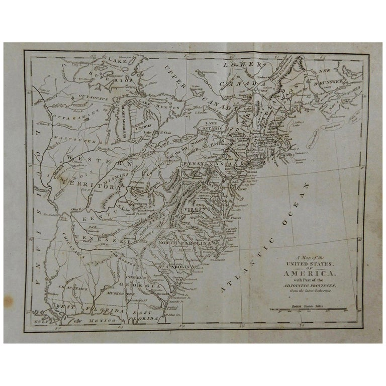 Rare map of the United States