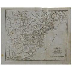 Original Antique Map of The United States, circa 1800
