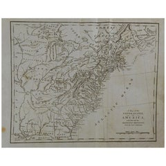 Original Antique Map of The United States, circa 1800