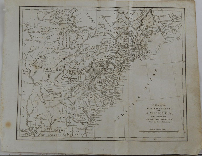 Other Original Antique Map of The United States, circa 1800