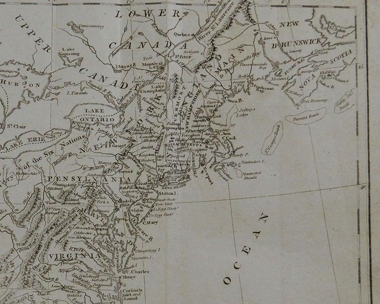English Original Antique Map of The United States, circa 1800