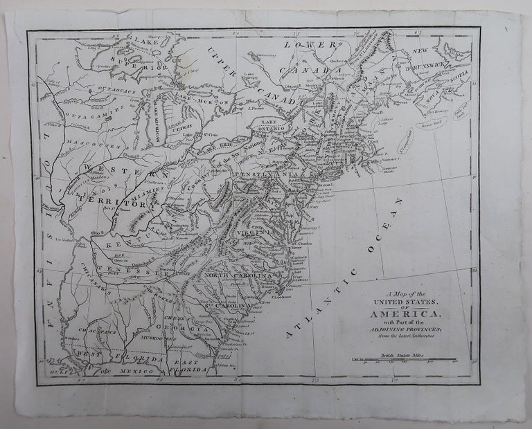 Other Original Antique Map of The United States of America, circa 1800
