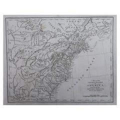 Original Antique Map of The United States of America, circa 1800