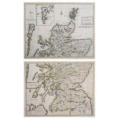 Original Antique Maps of Scotland by Andrew Johnstone, 1753