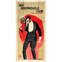 Original Antique Movie Poster Der Geheimnisvolle Club Delmont R L Stevenson Book