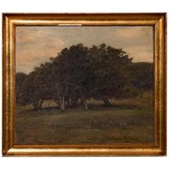 Original Antique Oil Painting Landscape by Jens Vige