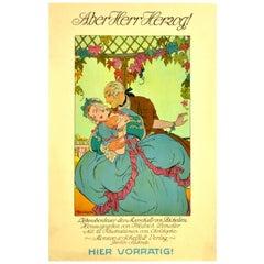 Original Antique Poster Aber Herr Herzog Love Affairs Of Marshal De Richelieu