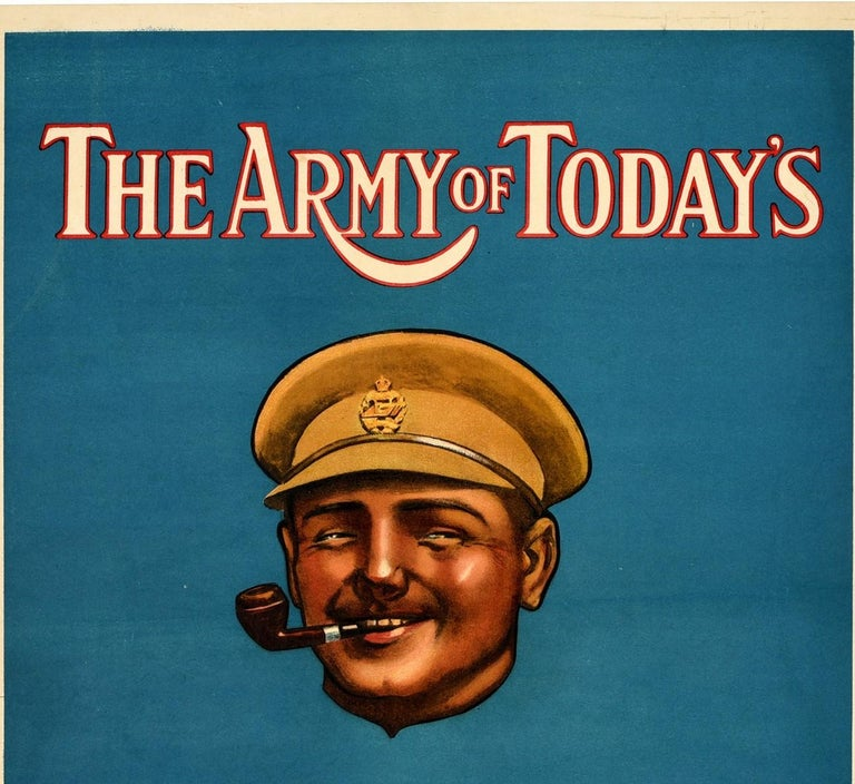 Original Antique Poster The Army Of Today's All Right British Army Recruitment In Excellent Condition For Sale In London, GB