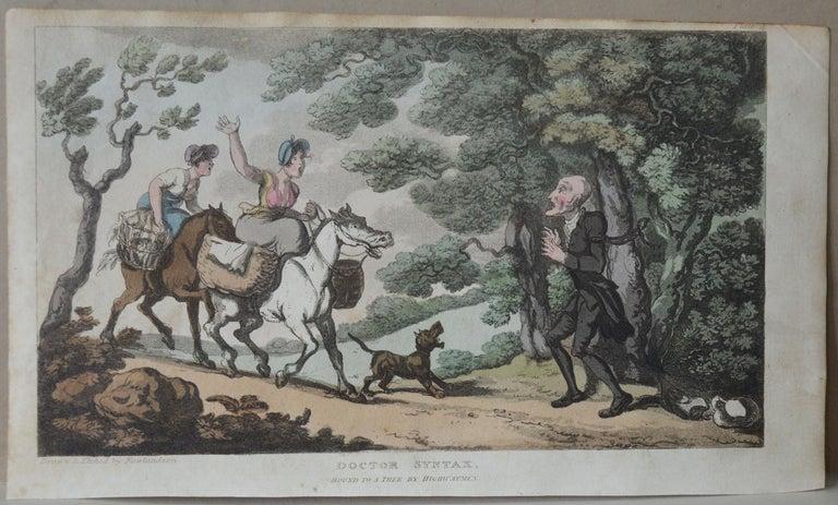 Georgian Original Antique Print after Thomas Rowlandson, 1813 For Sale