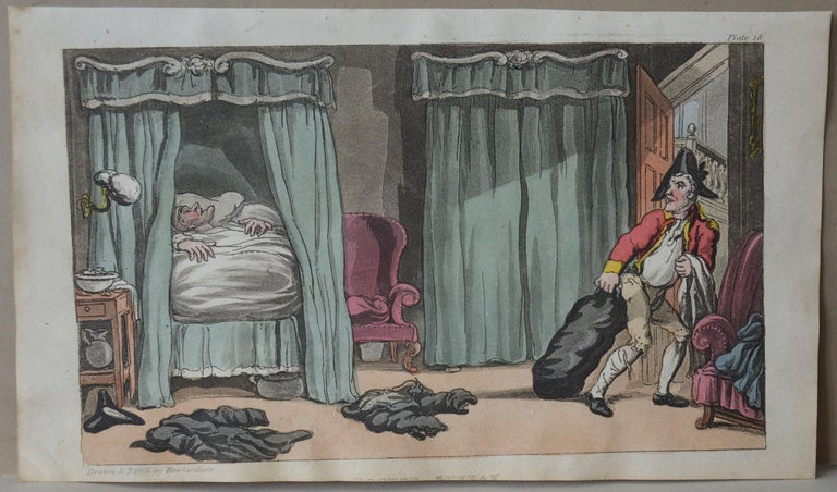Georgian Original Antique Print After Thomas Rowlandson, 1813 For Sale