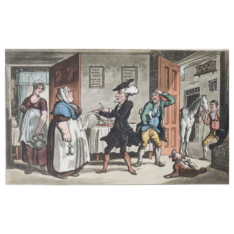 Original Antique Print after Thomas Rowlandson, 1813 For Sale