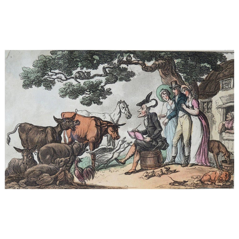 Original Antique Print after Thomas Rowlandson, 1813 For Sale