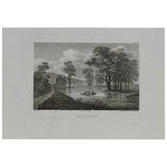 Original Antique Print of Albany, New York, circa 1840