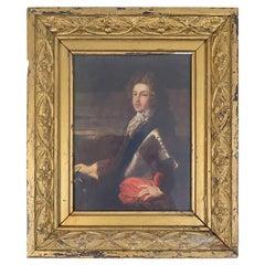 Original Antique Print of Bonnie Prince Charlie in Giltwood Frame