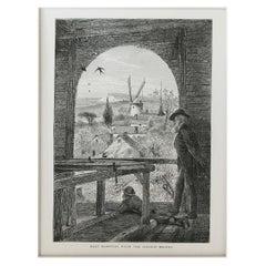 Original Antique Print of East Hampton, Long Island, New York, C.1870