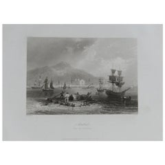 Original Antique Print of Montreal, Canada, circa 1850
