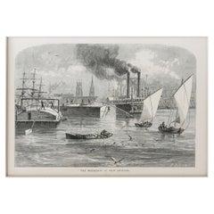 Original Antique Print of New Orleans, Louisiana, C.1870