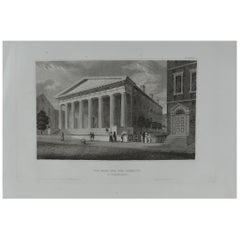 Original Antique Print of Philadelphia, Pennsylvania, circa 1840