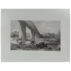 Original Antique Print of Richmond, Virginia, circa 1870