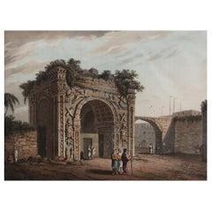 Original Antique Print of the Arch of Marcus Aurelius, 1816