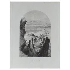 Original Antique Print of the Catskills, New York, circa 1870