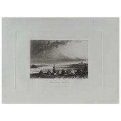 Original Antique Print of the River Lindsay, Canada, Dated 1834