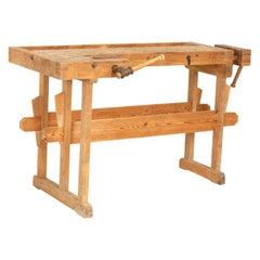 Original Antique Small Carpenter's Workbench