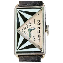 Original Art Deco 14 Karat Gold Ladies Wristwatch by Elgin, Serviced, circa 1930