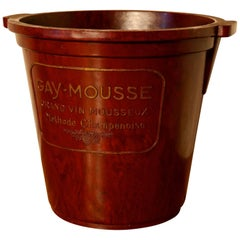 Original Art Deco 1920s Gay Mousse French Champagne Ice Bucket
