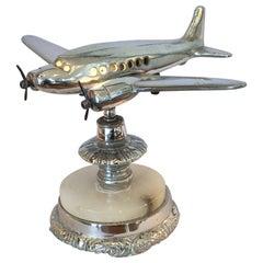 Original Art Deco Airplane Aeroplane Lamp Light