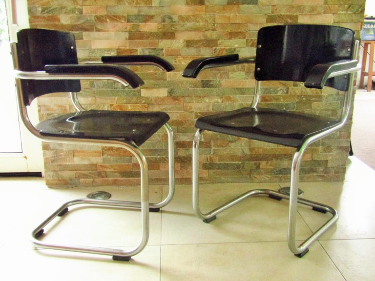 Original Art Deco Bauhaus Armchairs Breuer/ Stam 1932 For Sale 9