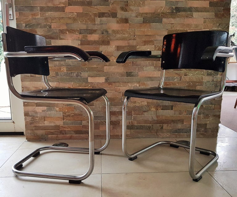 Original Art Deco Bauhaus Armchairs Breuer/ Stam 1932 For Sale 10