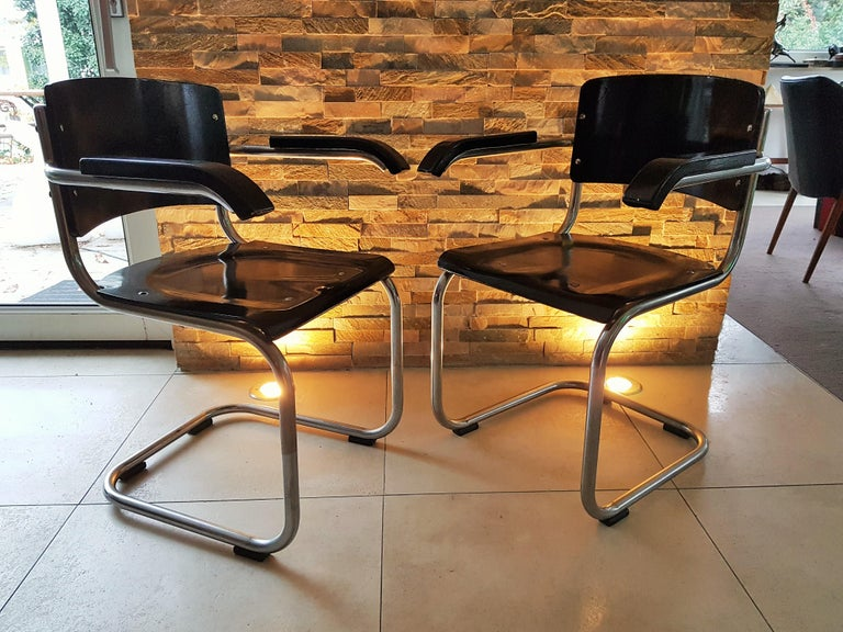 Original Art Deco Bauhaus Armchairs Breuer/ Stam 1932 For Sale 13