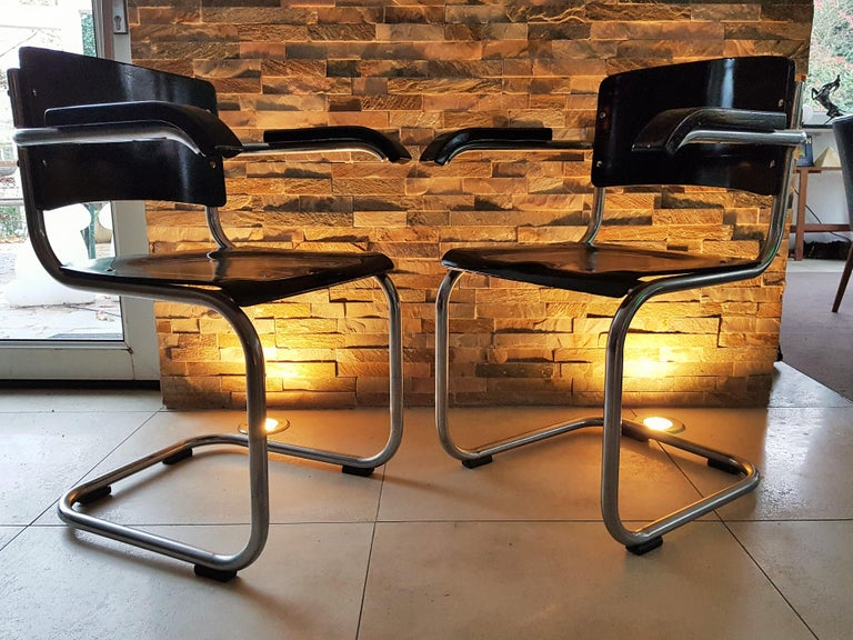 Original Art Deco Bauhaus Armchairs Breuer/ Stam 1932 For Sale 14